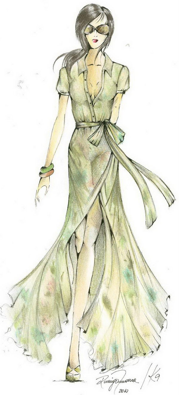 5 fashion croqui sketches - 30+ Cool Fashion Sketches