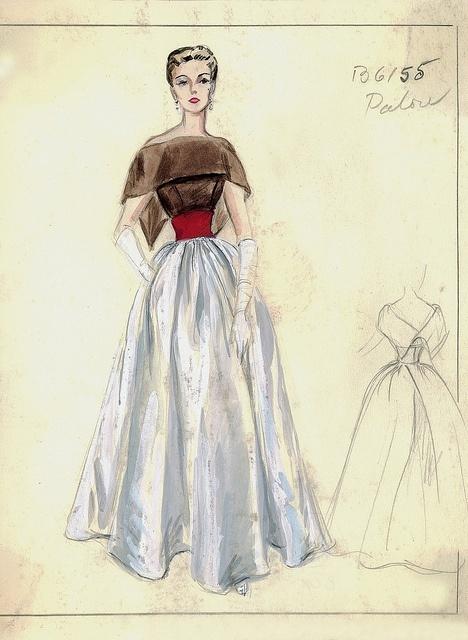 8 vintage fashion sketch - 30+ Cool Fashion Sketches