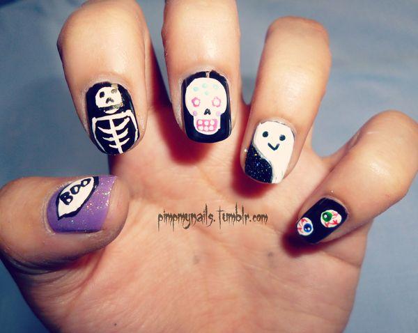 23 halloween nail ideas - 30 Cool Halloween Nail Art Ideas