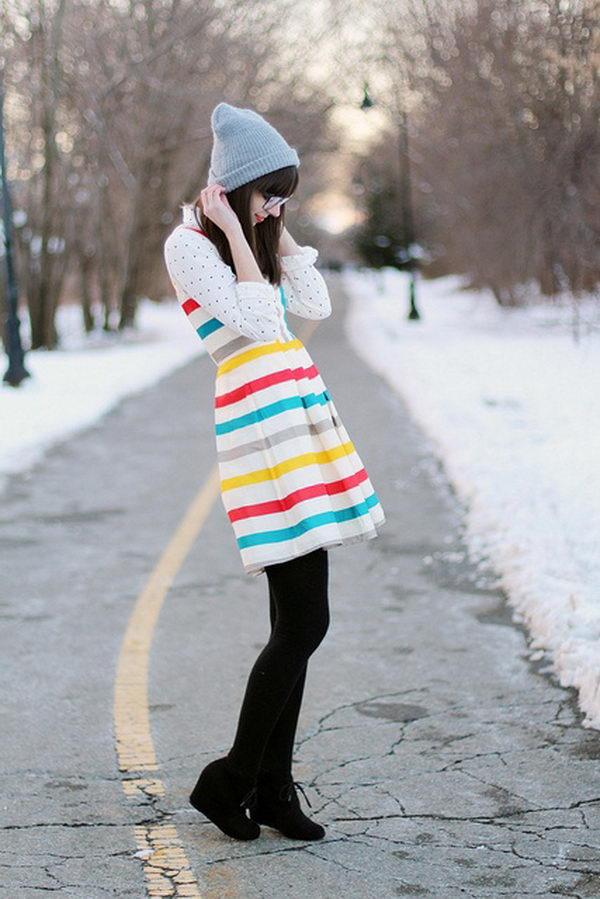 10 rainbow colored dress designs - 30 Gorgeous Rainbow Colored Dress Designs