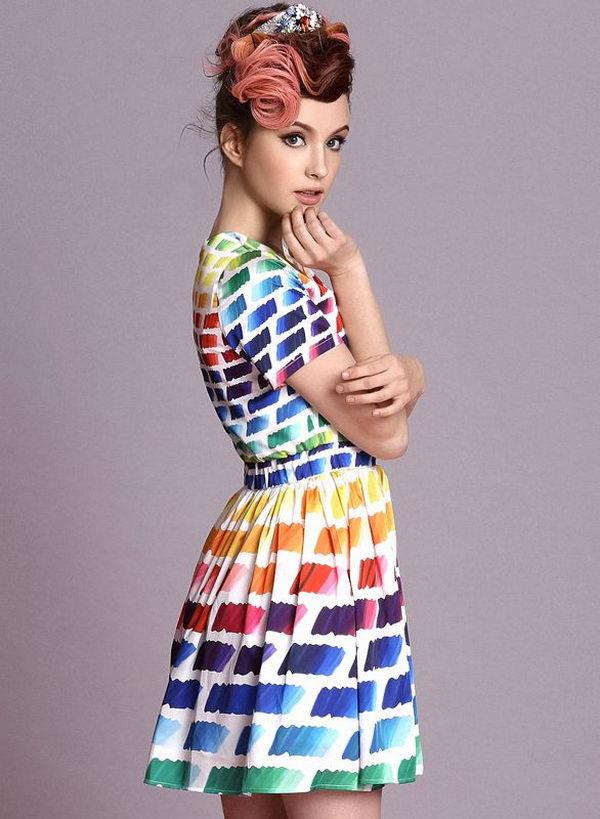 15 rainbow colored dress designs - 30 Gorgeous Rainbow Colored Dress Designs