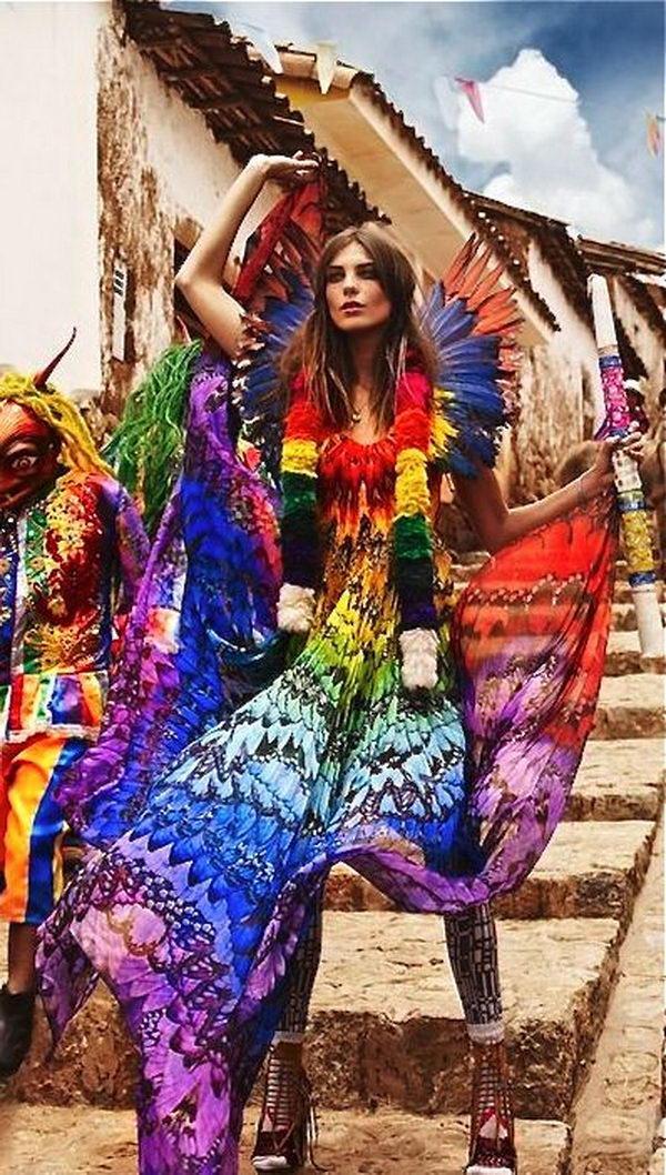 17 rainbow colored dress designs - 30 Gorgeous Rainbow Colored Dress Designs