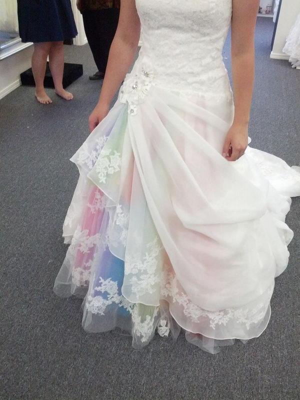 3 rainbow colored dress designs - 30 Gorgeous Rainbow Colored Dress Designs