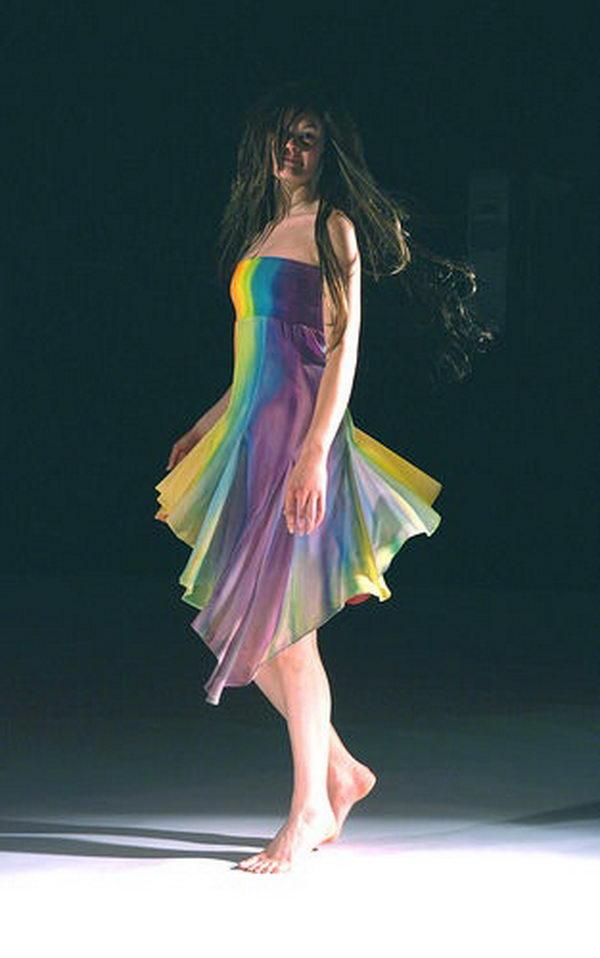 7 rainbow colored dress designs - 30 Gorgeous Rainbow Colored Dress Designs