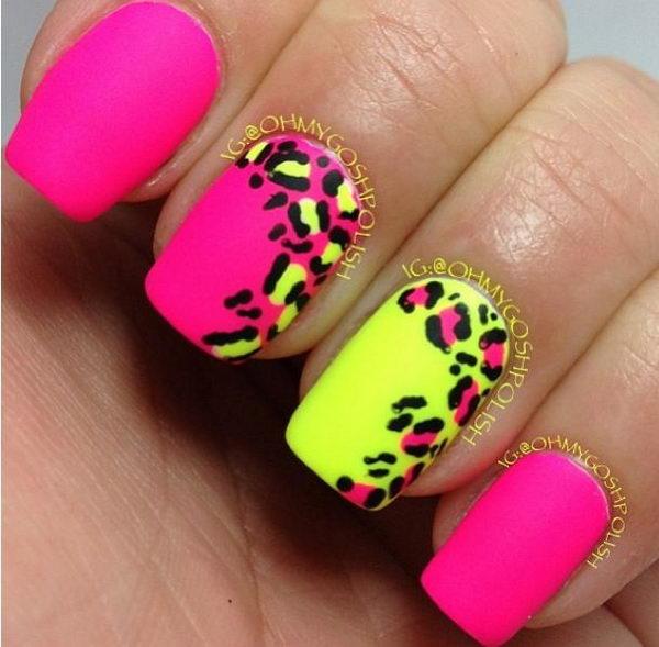 12 cheetah leopard nail designs - 15 Cheetah or Leopard Nail Designs