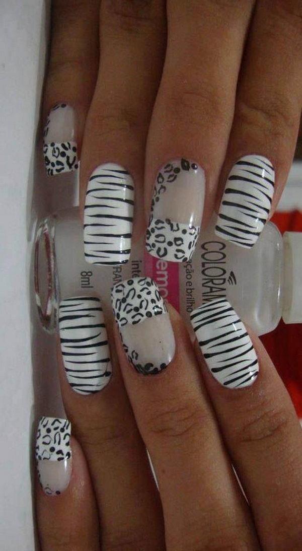 13 cheetah leopard nail designs - 15 Cheetah or Leopard Nail Designs