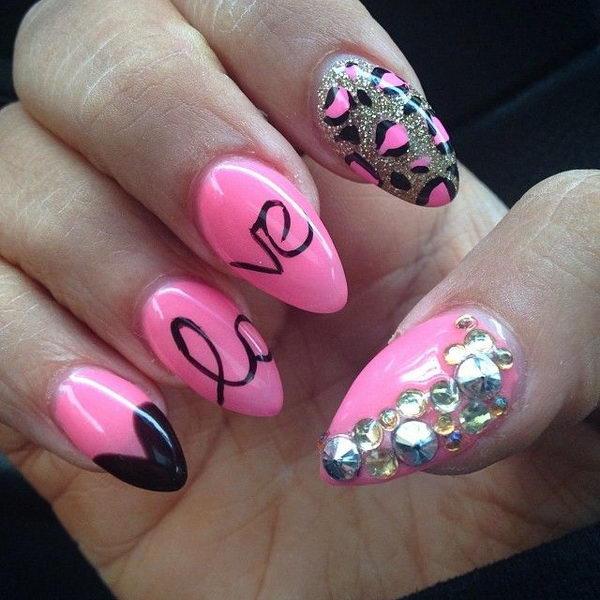 6 cheetah leopard nail designs - 15 Cheetah or Leopard Nail Designs