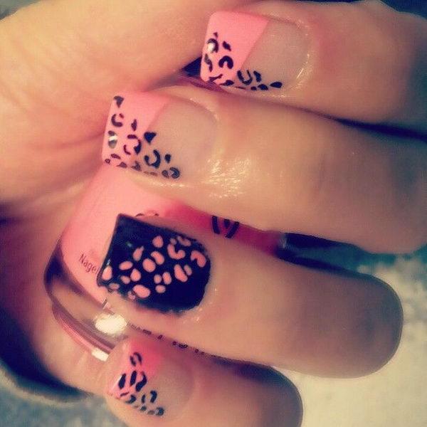 7 cheetah leopard nail designs - 15 Cheetah or Leopard Nail Designs