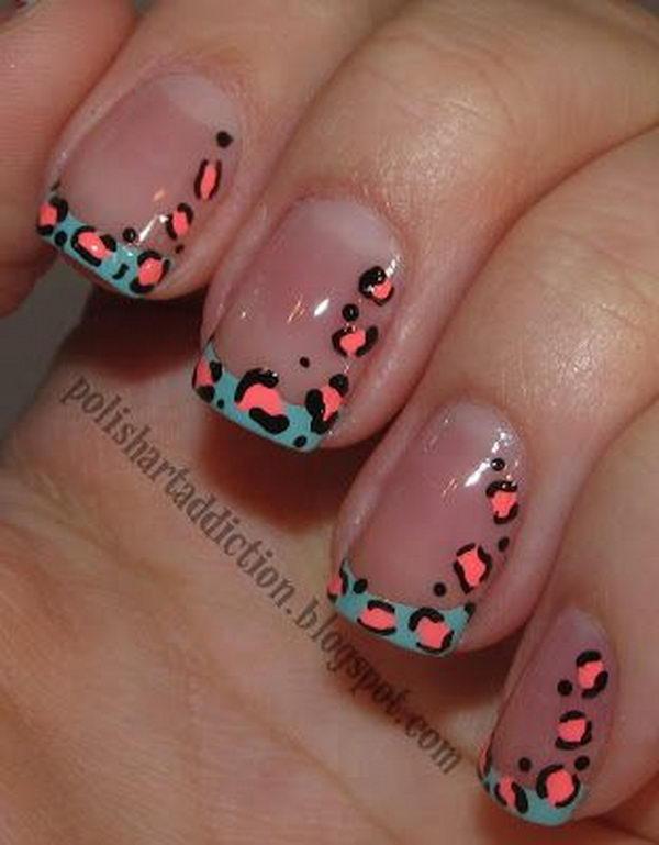 9 cheetah leopard nail designs - 15 Cheetah or Leopard Nail Designs