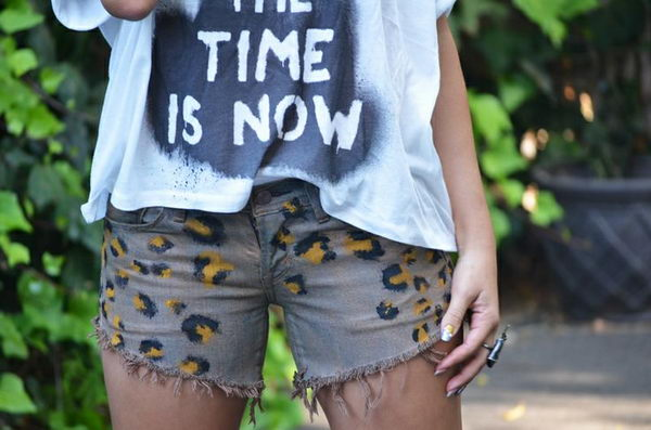 15 leopard print shorts - 20 Cool DIY Shorts Ideas for Girls