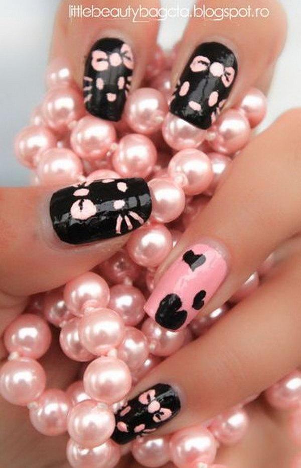 13 cute hello kitty nail art designs - Cute Hello Kitty Nail Art Designs