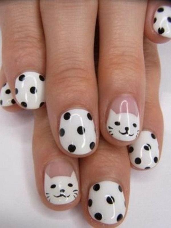 17 cute hello kitty nail art designs - Cute Hello Kitty Nail Art Designs