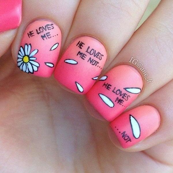 8 dandelion nail art - Cute Dandelion Nail Art Designs