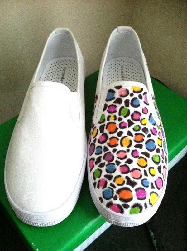 9 diy colorful leopard print shoes - 10 Creative Leopard Print Shoes Ideas