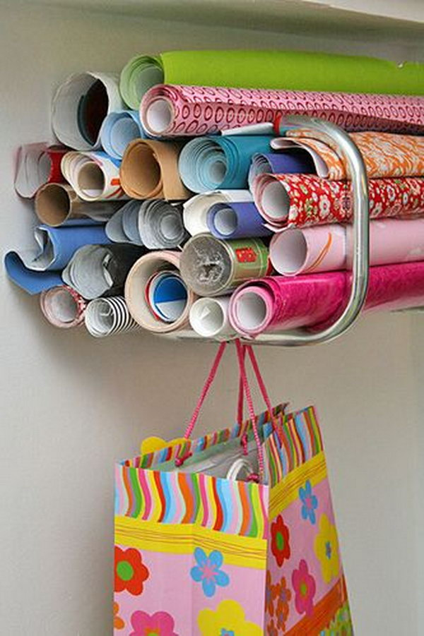11 wrapping paper storage - Creative Wrapping Paper Storage Ideas