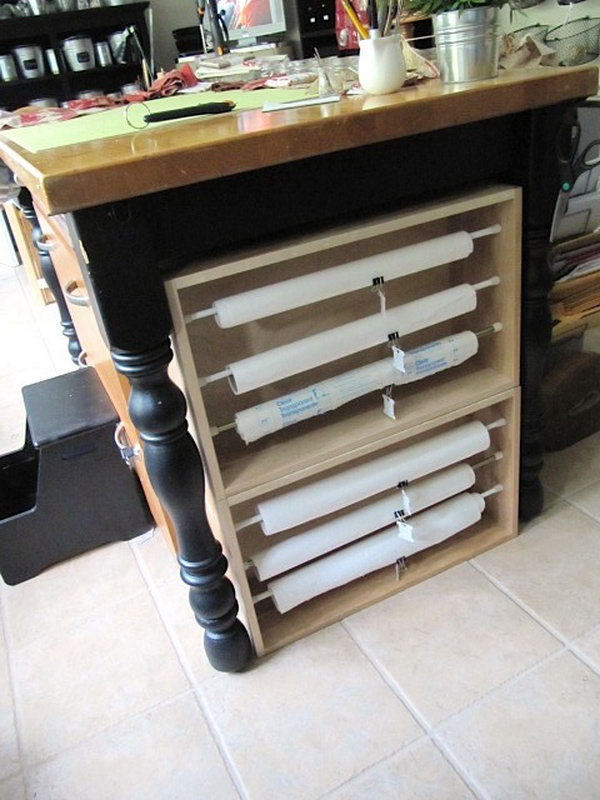 16 wrapping paper storage - Creative Wrapping Paper Storage Ideas