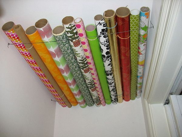 18 wrapping paper storage - Creative Wrapping Paper Storage Ideas