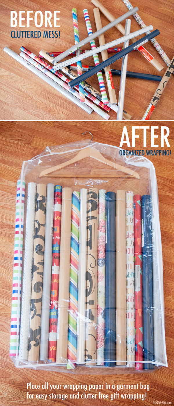21 wrapping paper storage - Creative Wrapping Paper Storage Ideas