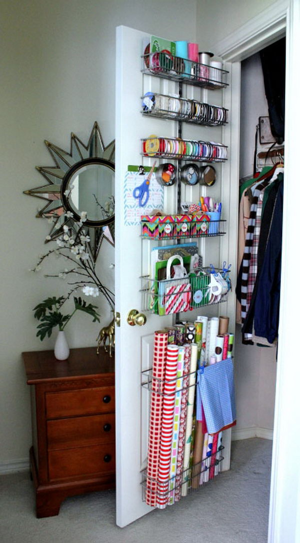 6 wrapping paper storage - Creative Wrapping Paper Storage Ideas