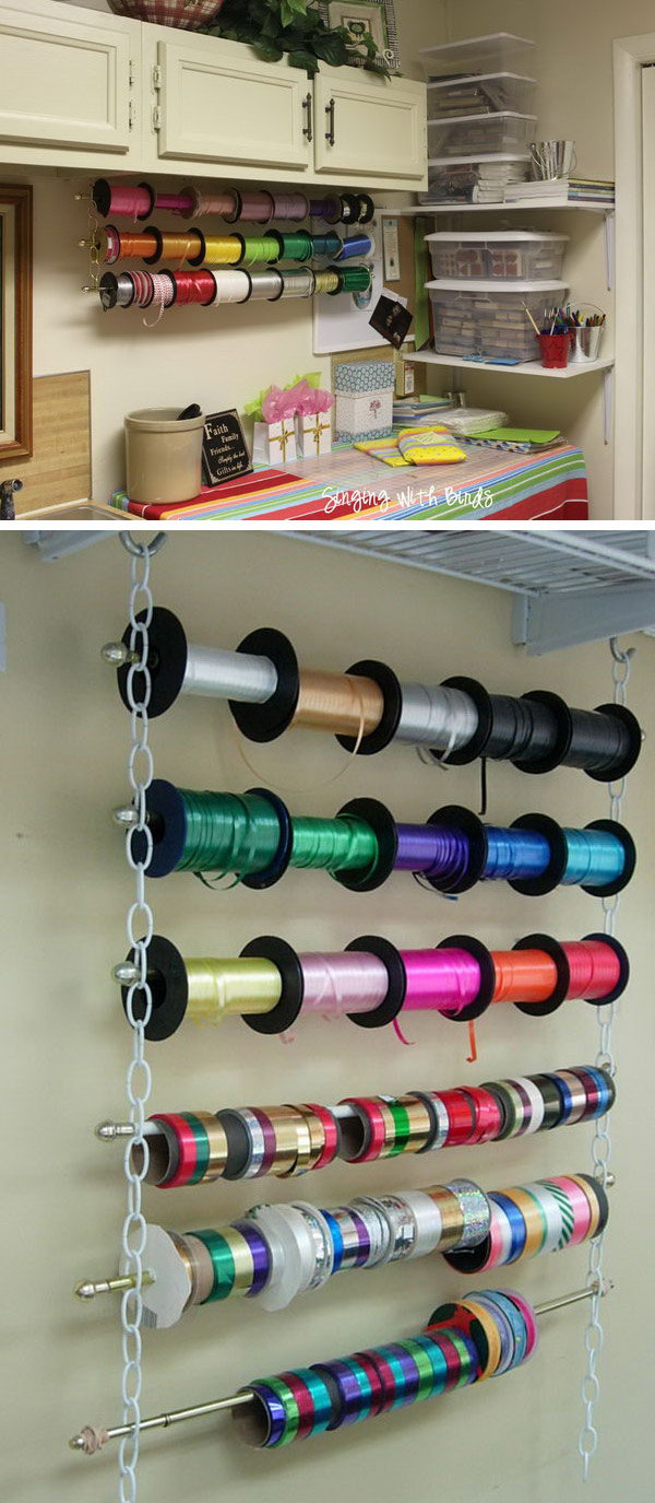 7 wrapping paper storage - Creative Wrapping Paper Storage Ideas