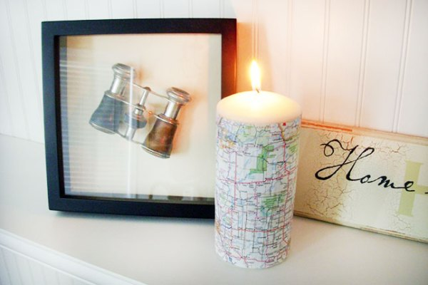 3 diy map projects - 25 Creative DIY Map Projects