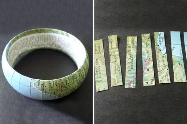 5 diy map projects - 25 Creative DIY Map Projects