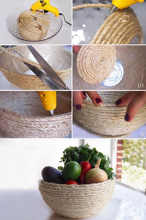 12 rope crafts - 25 DIY Rope Craft Ideas