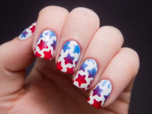 17 american flag stripes stars nails - 30+ American Flag Inspired Stripes and Stars Nail Ideas & Tutorials
