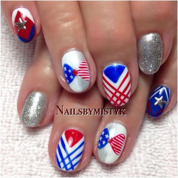 14 cute 4th of july patriotic nail art - 36 Cute 4th of July Patriotic Nail Art Ideas