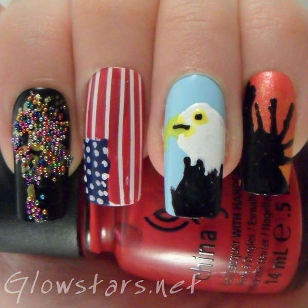 15 cute 4th of july patriotic nail art - 36 Cute 4th of July Patriotic Nail Art Ideas