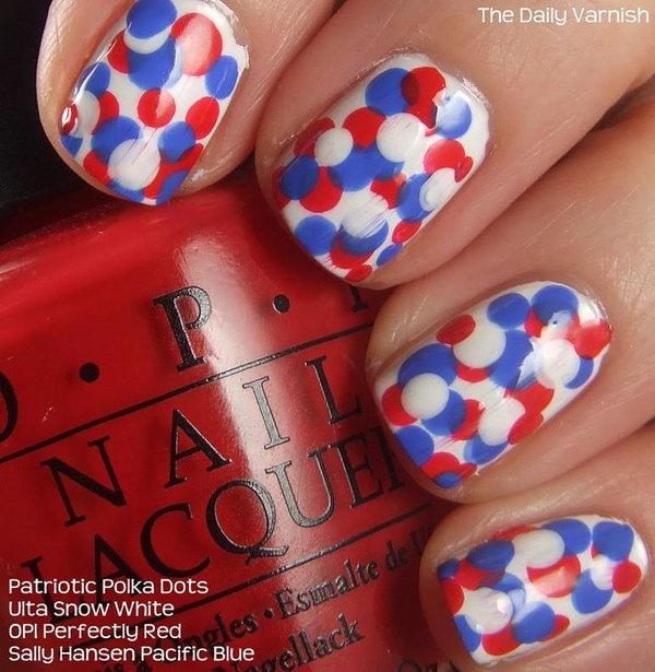 27 cute 4th of july patriotic nail art - 36 Cute 4th of July Patriotic Nail Art Ideas