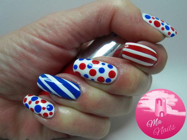 32 cute 4th of july patriotic nail art - 36 Cute 4th of July Patriotic Nail Art Ideas