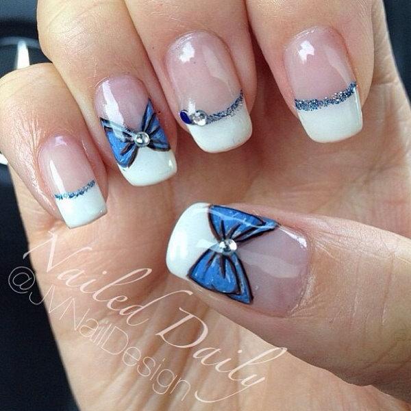 12 bow nail design ideas - 45 Wonderful Bow Nail Art Designs