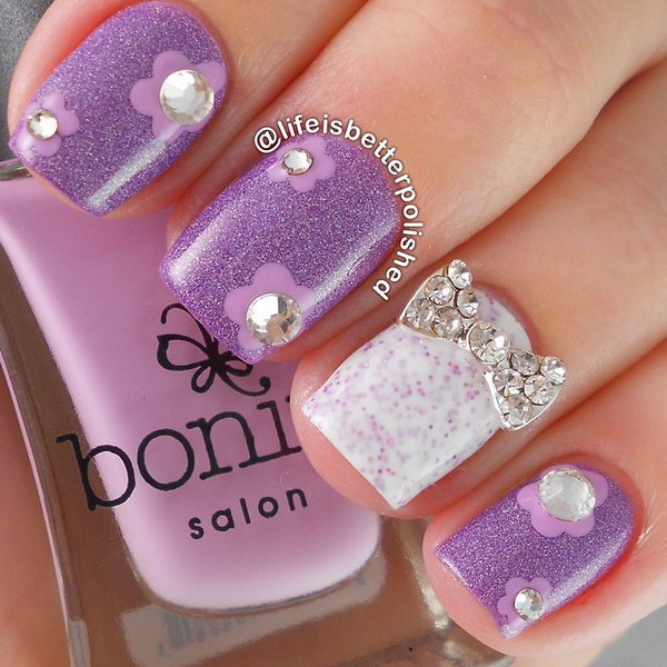13 bow nail design ideas - 45 Wonderful Bow Nail Art Designs