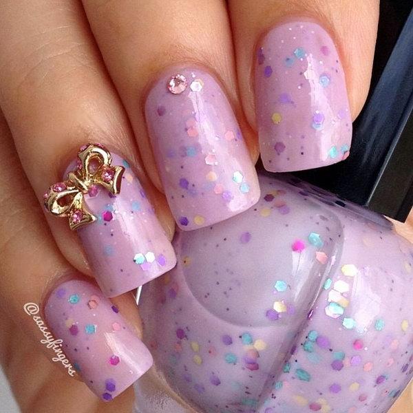 16 bow nail design ideas - 45 Wonderful Bow Nail Art Designs