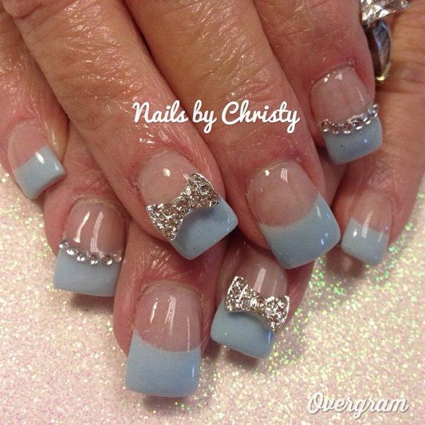 18 bow nail design ideas - 45 Wonderful Bow Nail Art Designs