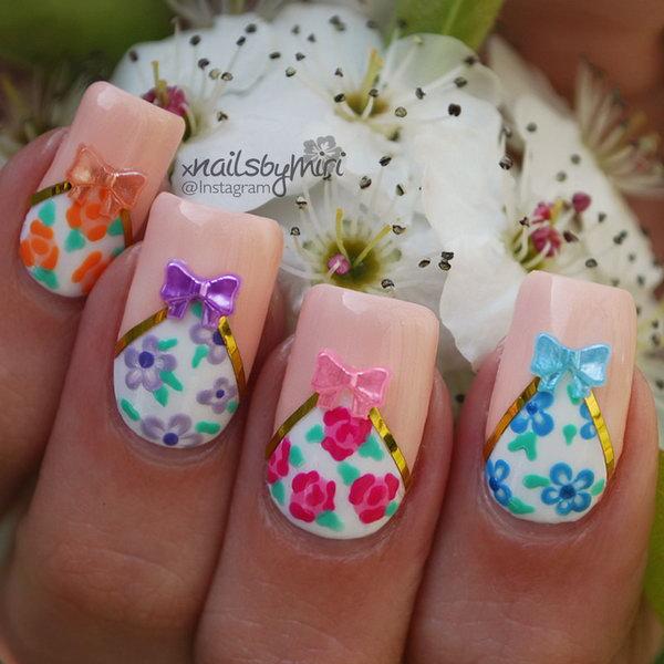 20 bow nail design ideas - 45 Wonderful Bow Nail Art Designs