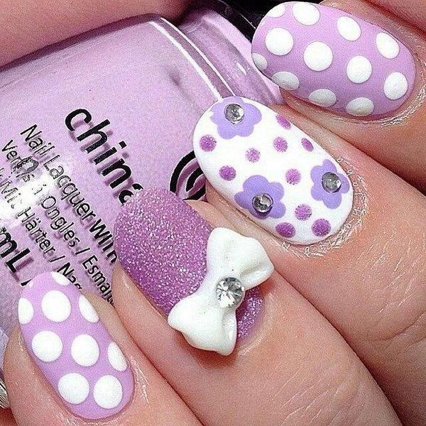 24 bow nail design ideas - 45 Wonderful Bow Nail Art Designs