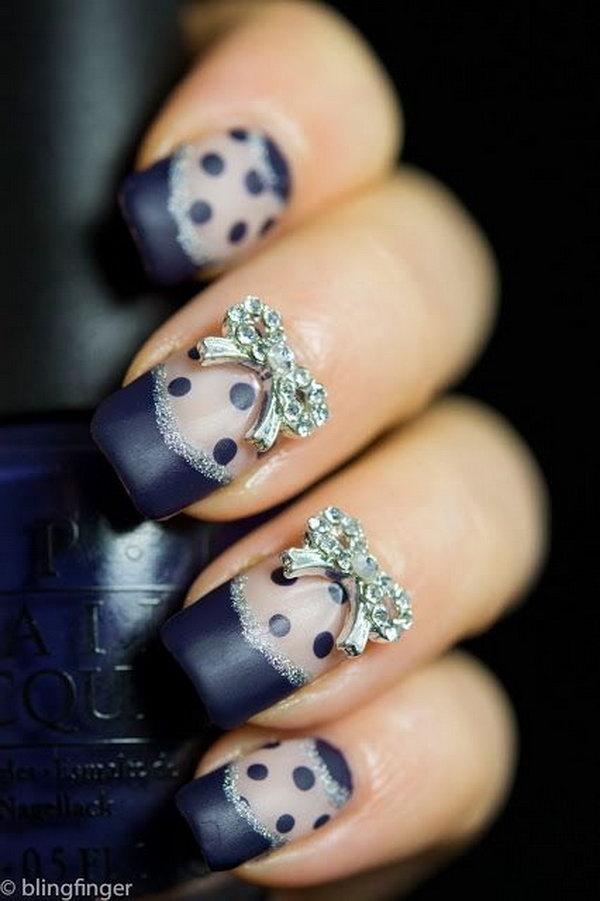 31 bow nail design ideas - 45 Wonderful Bow Nail Art Designs