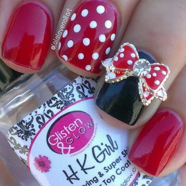 32 bow nail design ideas - 45 Wonderful Bow Nail Art Designs