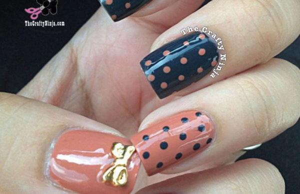 34 bow nail design ideas - 45 Wonderful Bow Nail Art Designs