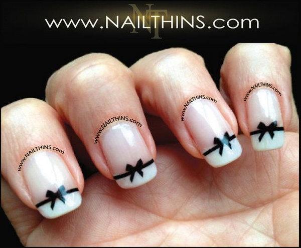 4 bow nail design ideas - 45 Wonderful Bow Nail Art Designs