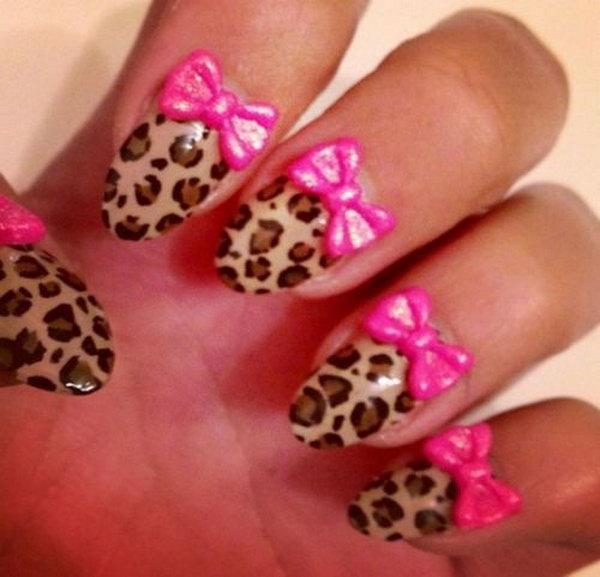 42 bow nail design ideas - 45 Wonderful Bow Nail Art Designs