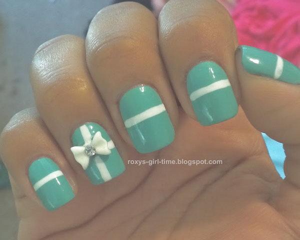 9 bow nail design ideas - 45 Wonderful Bow Nail Art Designs