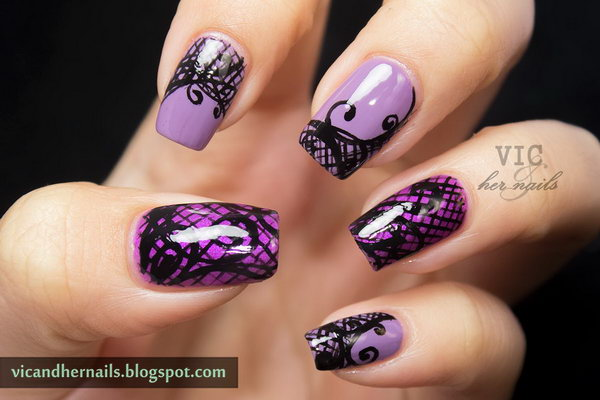 16 purple nail art designs - 30+ Trendy Purple Nail Art Designs You Have to See