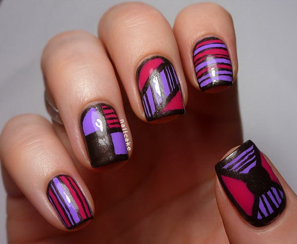 18 purple nail art designs - 30+ Trendy Purple Nail Art Designs You Have to See