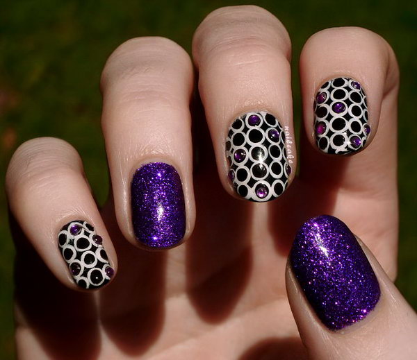 19 purple nail art designs - 30+ Trendy Purple Nail Art Designs You Have to See