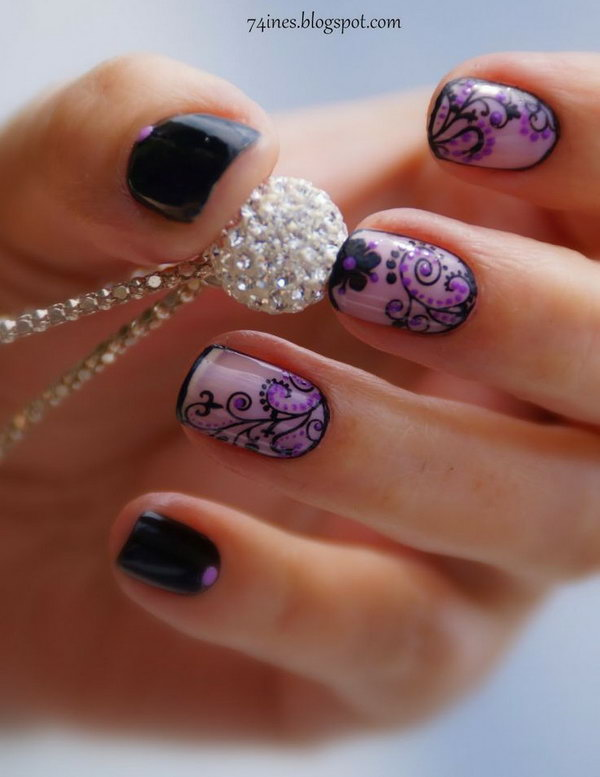 29 purple nail art designs - 30+ Trendy Purple Nail Art Designs You Have to See