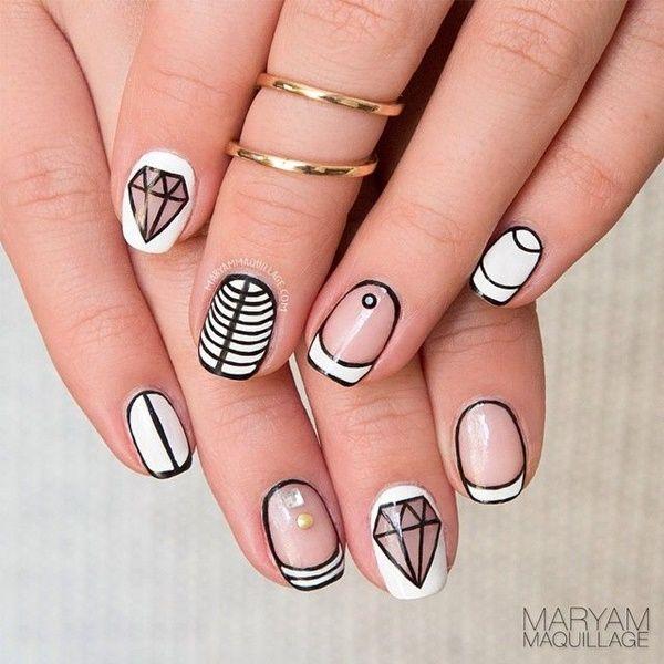 11 black and white nail designs - 80+ Black And White Nail Designs