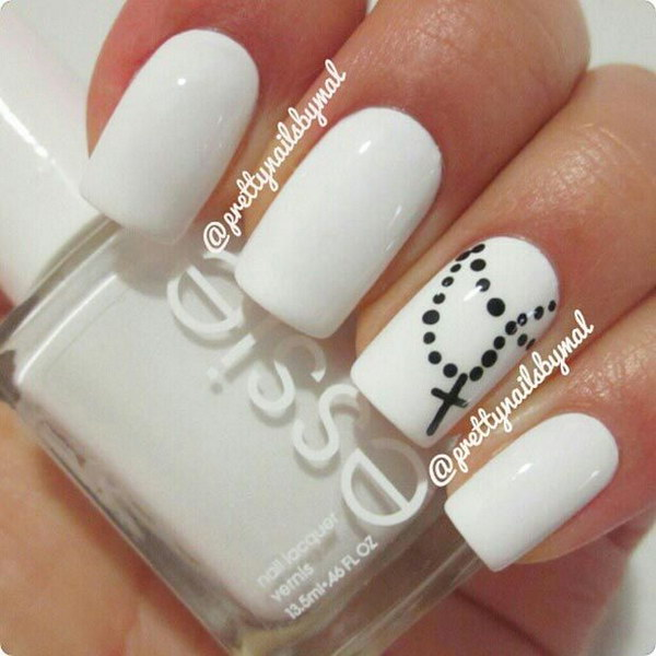 12 black and white nail designs - 80+ Black And White Nail Designs